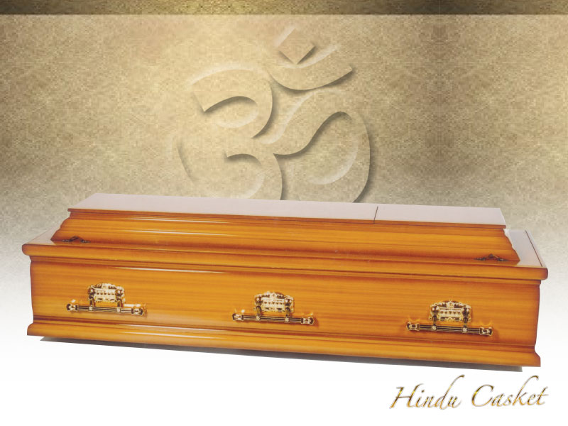 S-30 Brown Casket